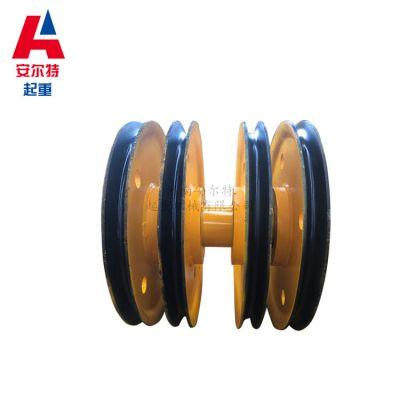 32T行车吊钩滑轮组 原厂哈瓦洛轴承滑轮 热轧材质