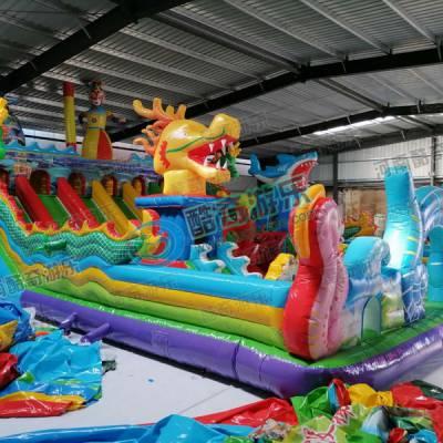 蹦蹦床-支架水池-移动水上乐园充气玩具