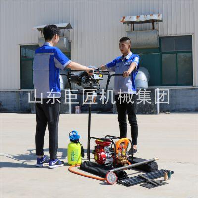 两个人扶着就能打的巨匠取芯钻机美国进口发动机地质钻探专用设备用过的人都说好