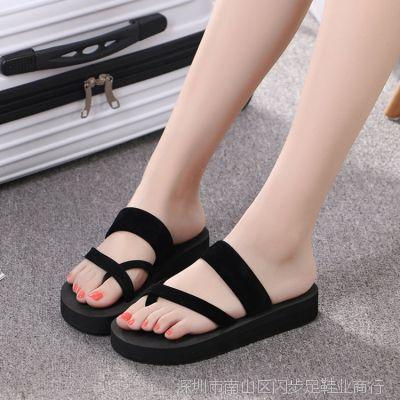 夏天凉居家拖鞋一件代发家居泡沫人字拖女平跟休闲沙滩鞋女式凉拖