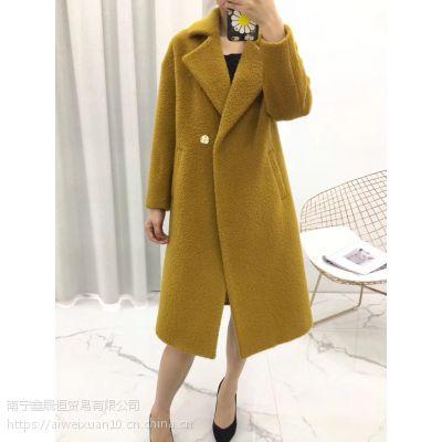 羊驼绒2018新款 大衣外套 时尚气质专柜正品女装品牌折扣店货源批发