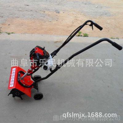 手推式小型松土机 菜园家用汽油旋耕机 多用途轻便旋耕机