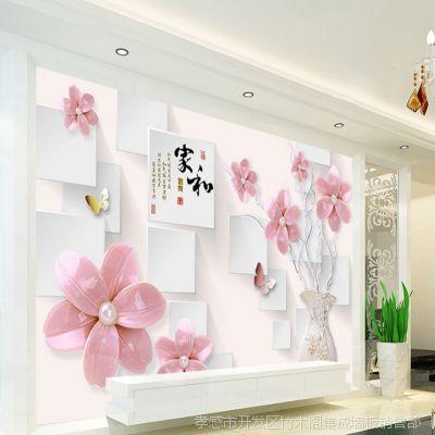 3D电视背景墙 厂家直销 可定制竹木纤维集成墙饰