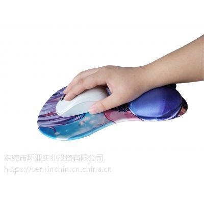 定制彩印硅胶布面护腕鼠标垫