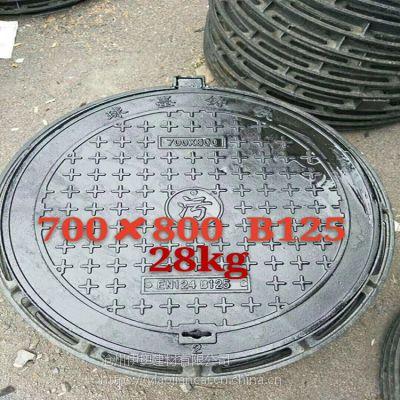 河北 球墨铸铁污水井盖700*800 C250 厂家直销