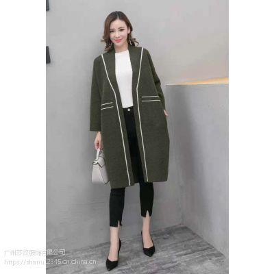 新款貂绒外套长款开衫品牌女装专柜尾货走份批发一手货源
