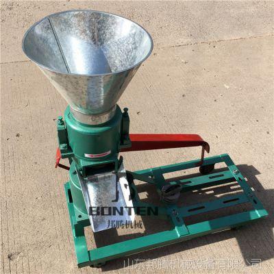 柴油机带动的饲料造粒机 直连轴传小型平模颗粒机价格