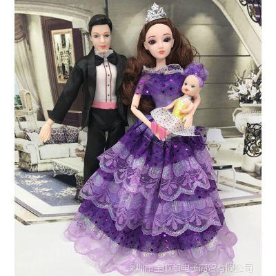 JSH新品新款芭比公主男朋友肯王子换装男娃娃衣服小凯丽爸爸过家