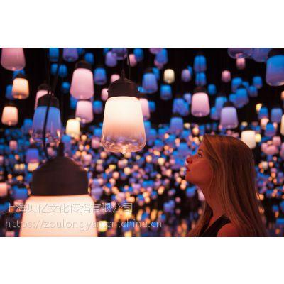 房产活动光影展项目AR流光瀑布出租灯光艺术馆展示