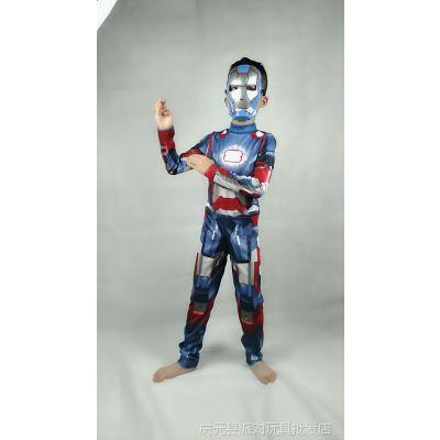 儿童金刚狼表演服钢铁侠服装蚁人服美国队长