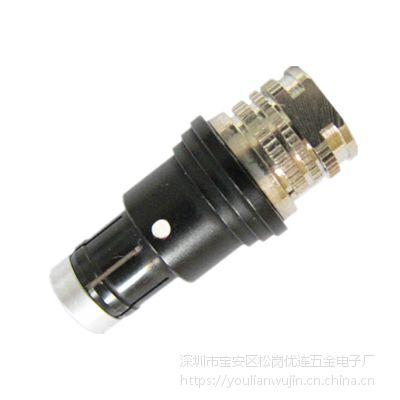 兼容Fischerl连接器 镀黑铬半圆定位军工插头.png