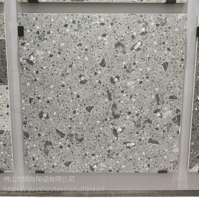 60*60家装工装水磨石仿古砖大颗粒地砖 60x60工程工地灰色水泥砖耐磨防滑砖
