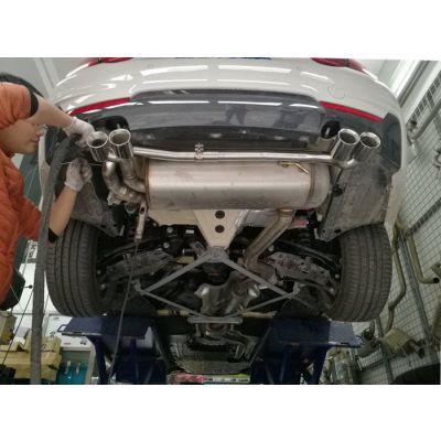 成都宝马430改装双边双出排气管