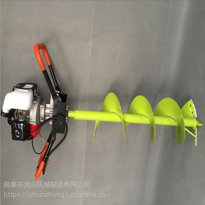四冲程植树汽油挖坑机 冻土钻坑利器打眼机 产量高手提挖坑机