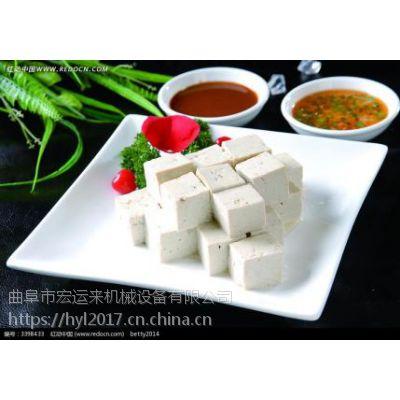 山东有卖花生豆腐机的厂家吗 大型全自动豆腐机生产视频