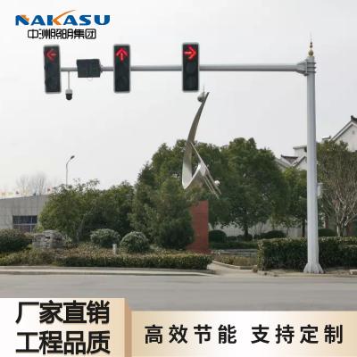厂家直销 220V八角信号灯杆 红绿箭头交通指示灯 道路行人指示灯