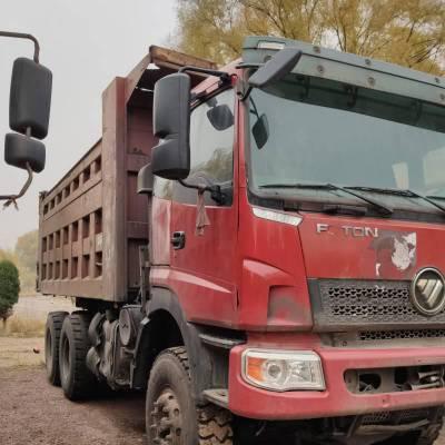 转让一批14年欧曼VT,340马力的工程用车,5.6货箱,山西忻州看车