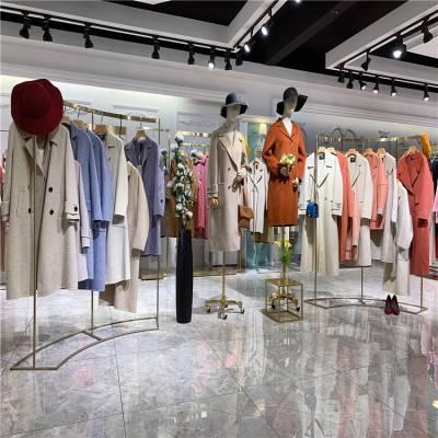 广州三荟618年中大促特价双面羊绒大衣折扣货源品牌女装实力供货商