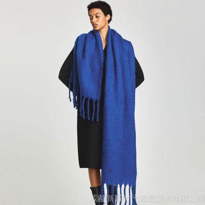 外贸出口围巾定制披肩丝巾订做设计打样加工