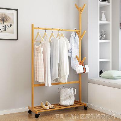 壁挂挂衣架客厅卧室家用简约落地移动迷你横杆
