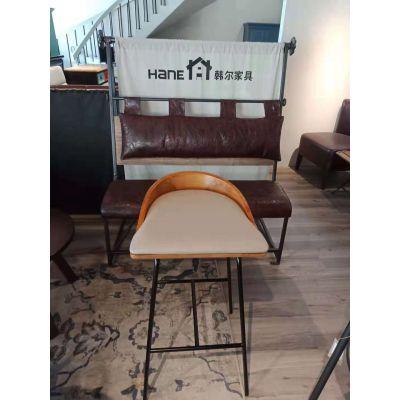 韩尔品牌 厂家供应星巴克吧椅(实木吧椅)咖啡馆桌椅