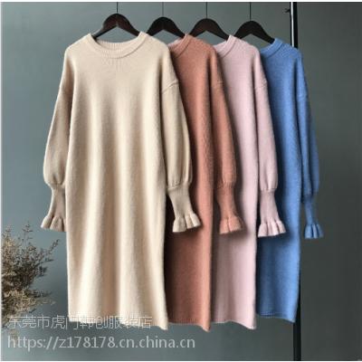 厂家直销2-15元大量时尚韩版毛衣甩卖清仓 广东女士毛衣批发