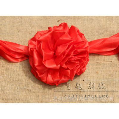 新娘新郎绣球影楼摄影用品婚庆装饰仿古古装道具布艺 结婚红绣球