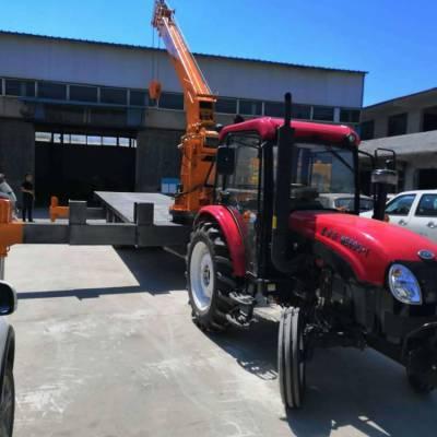 二手拖拉机改装随车吊 厂家自制拖拉机随车吊 拖拉机平板吊车质量高价格优惠