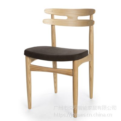 全实木餐椅餐厅现代简约家用北欧家具凳子成人靠背椅蝴蝶椅