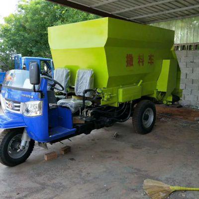 秸秆饲料拌料车 青饲料玉米秸秆拌料撒料一体机 全自动喂料车