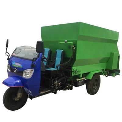 液压自动刮板出料撒料车 养殖场用喂料车定做 饲料投喂撒料车厂家