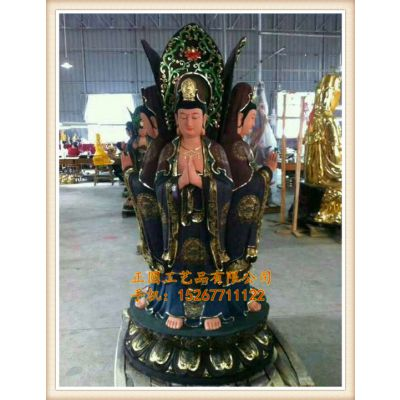 浙江正圆铜雕四面观音菩萨制造厂家,铸铜四面阿弥陀厂家,木雕佛像雕刻工艺厂