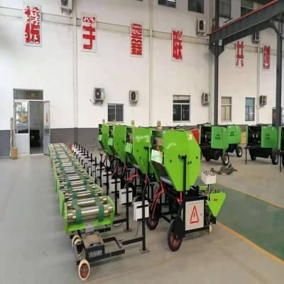 民乐牧草加工青储机械设备 国补型全自动打捆包膜一体机多少钱