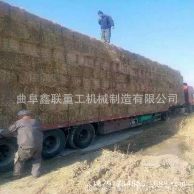 内蒙古棉花秸秆捡拾方捆机 多功能进料捆扎机厂家联系电话