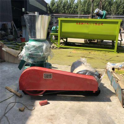 龙虾甲鱼饲料机 单相电机饲料颗粒机 玉米秸秆混合制粒机