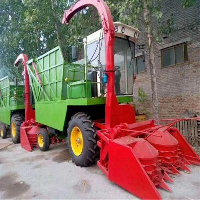 收割倒伏专用秸秆青储机 双转盘式牧草粉碎收割机 大型青储机