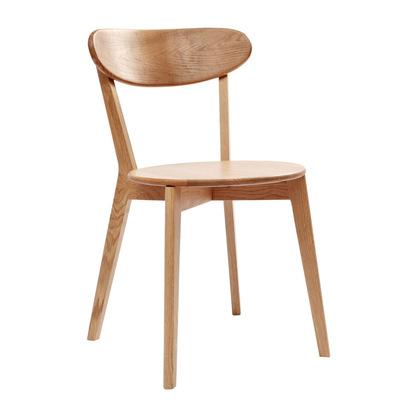 北欧实木白橡木餐厅餐椅简约时尚客厅小户型