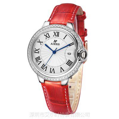艾尔时定制批发时尚女士进口石英不锈钢手表