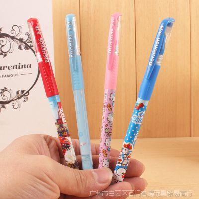 0.38mm极细笔头商务办公学生黑色签字碳素水笔全针管式中性笔