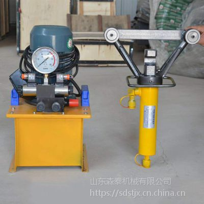 森泰钢筋弯曲机 16-32手提式液压钢筋弯曲矫直机多少钱