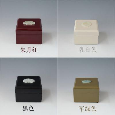 十境OTlife新中式软装饰品贴玉哑光木质漆盒礼品收纳梳妆化妆盒