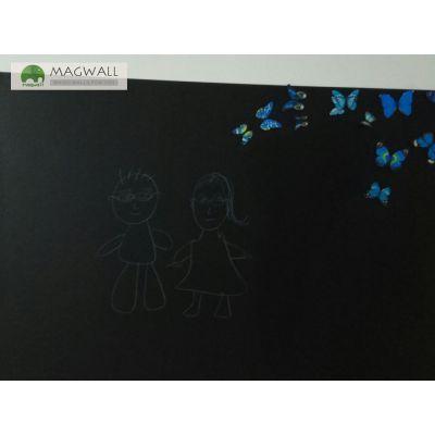 Magwall居家创意无尘擦写双层磁性黑板墙