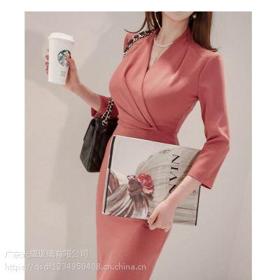 欧时力北京外贸尾货批发大库 品牌折扣女装外套尾货红色雪纺衫