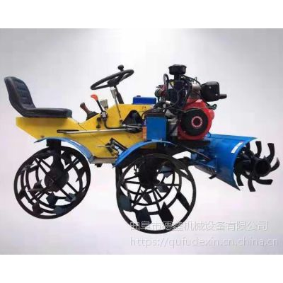 南方深水田烂泥地专用座驾式小型打浆机 小地块水田旋耕微耕机