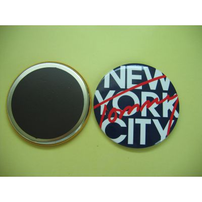 马口铁圆形冰箱贴定制,金属磁性徽标厂,创意软磁强磁卡通赠品