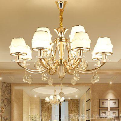 客厅灯 卧室灯 水晶台灯法式铜灯 昆明市酒店欧式吊灯