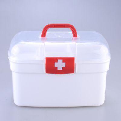 收纳家庭储物箱 塑料药箱 家用药箱 手提家用药箱可定制印LOGO 收纳盒定制工厂批发