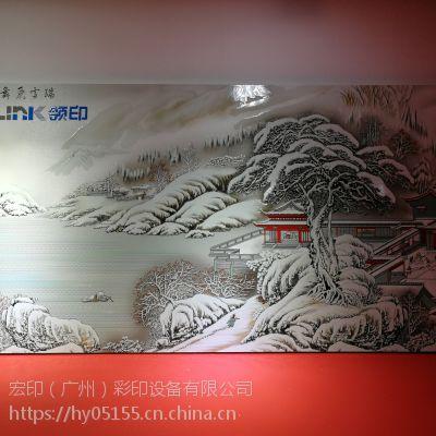 2513竹木纤维板uv彩印机 集成墙板万能打印机