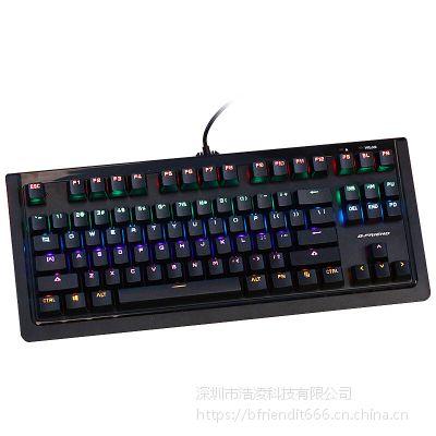 B.FRIENDit壁虎忍者MK2背光小键盘 有线吃鸡游戏键盘 87键G轴笔记本台式电脑机械键盘