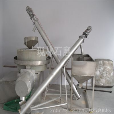 【现林】电动石磨面粉机 传统老石磨磨粉机 五谷杂粮石磨机厂家